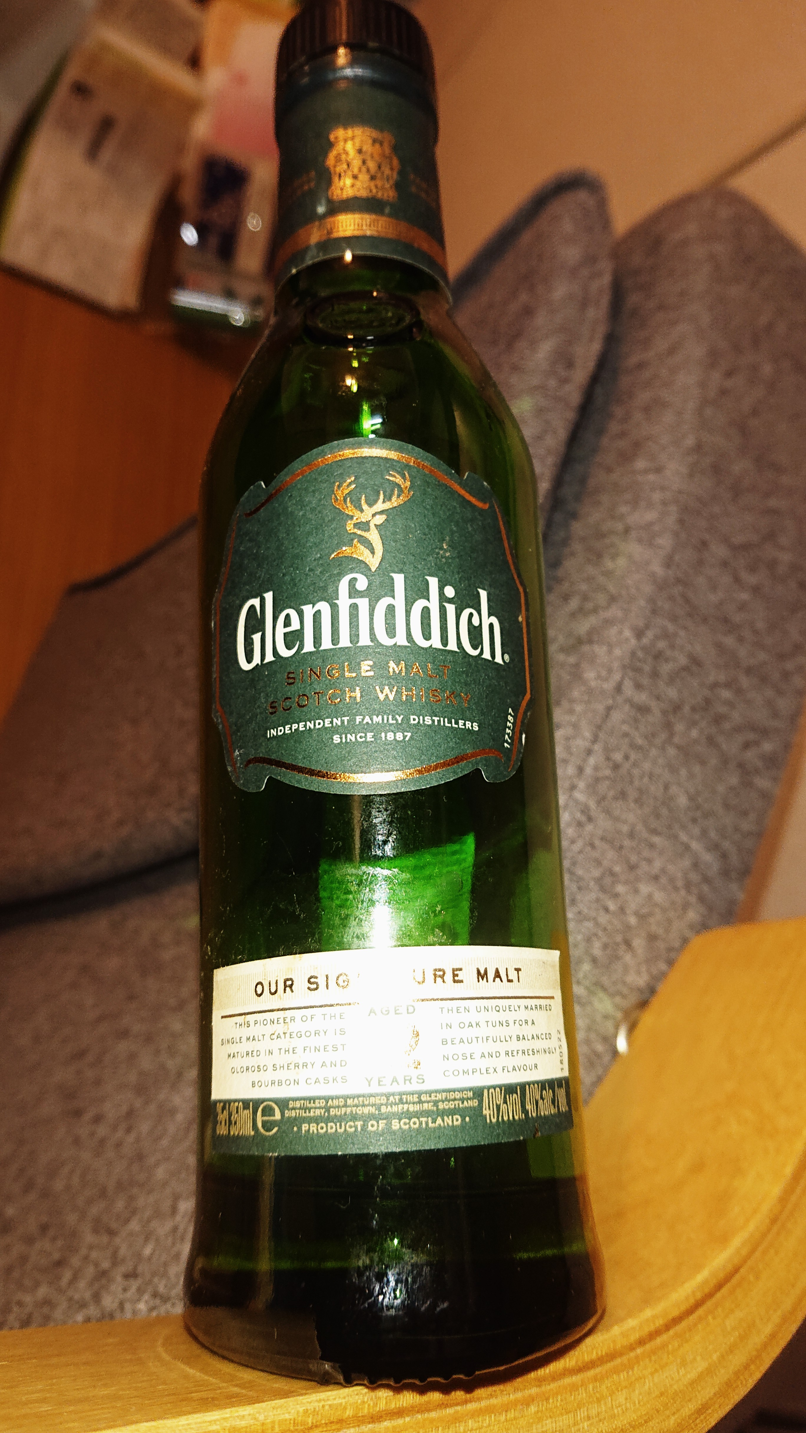 グレンフィデック12年のテイスティング・言わずと知れた売れっ子。「シングルモルトウイスキー」の立役者