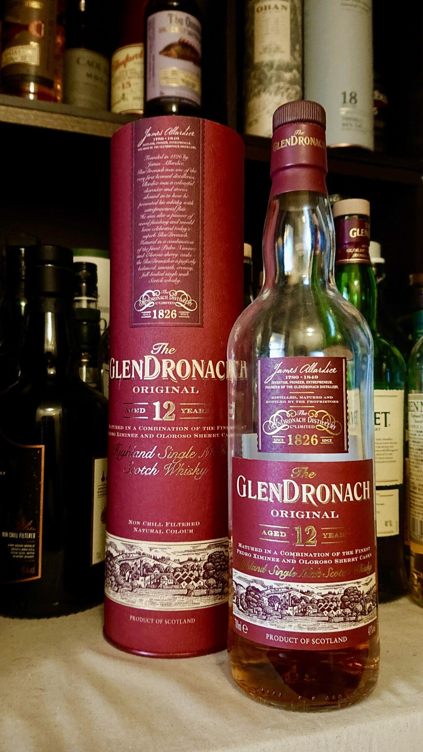 グレンドロナック12年・ハイランドを代表するシェリー樽熟成の老舗。黒イチゴの谷の重厚美酒
