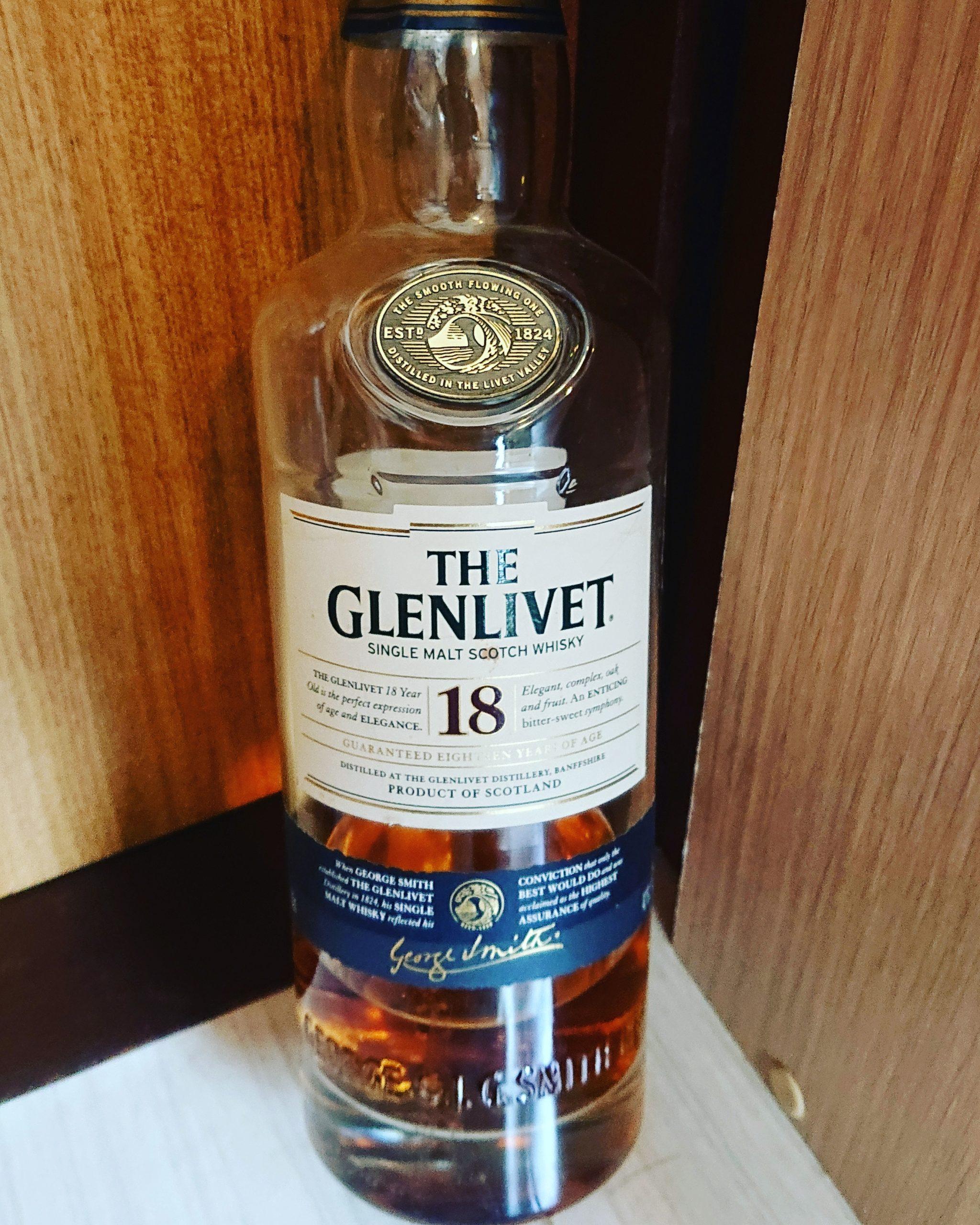 グレンリベット18年のテイスティング・老舗スコッチ正統派の真髄が感じられる一本。最強のコスパ。高級ウィスキー入門編