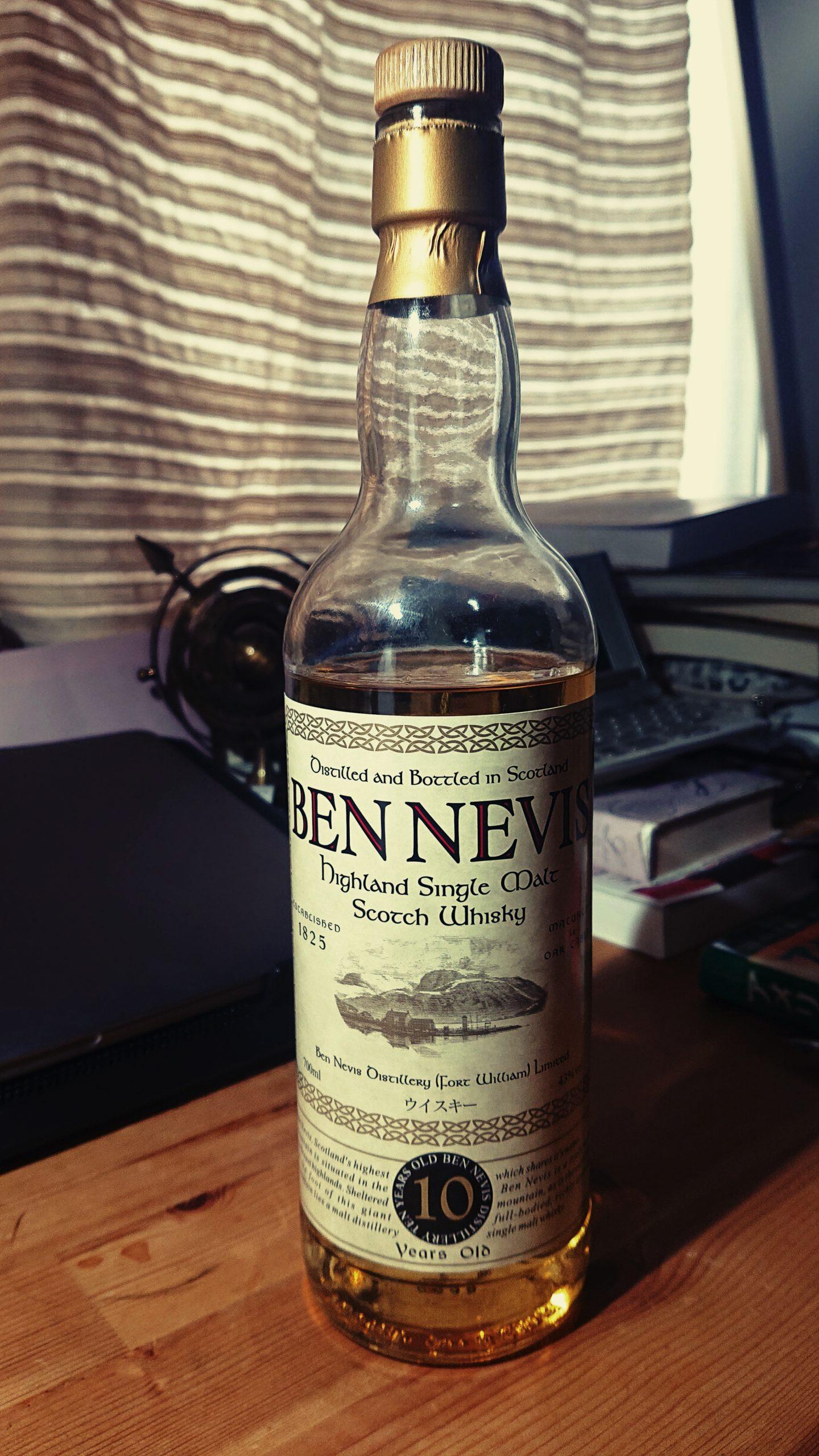 ベンネヴィス10年のテイスティング&レヴュー・コスパ最高峰!ヘザーの花香る西ハイランド山岳地の華やかな美酒!