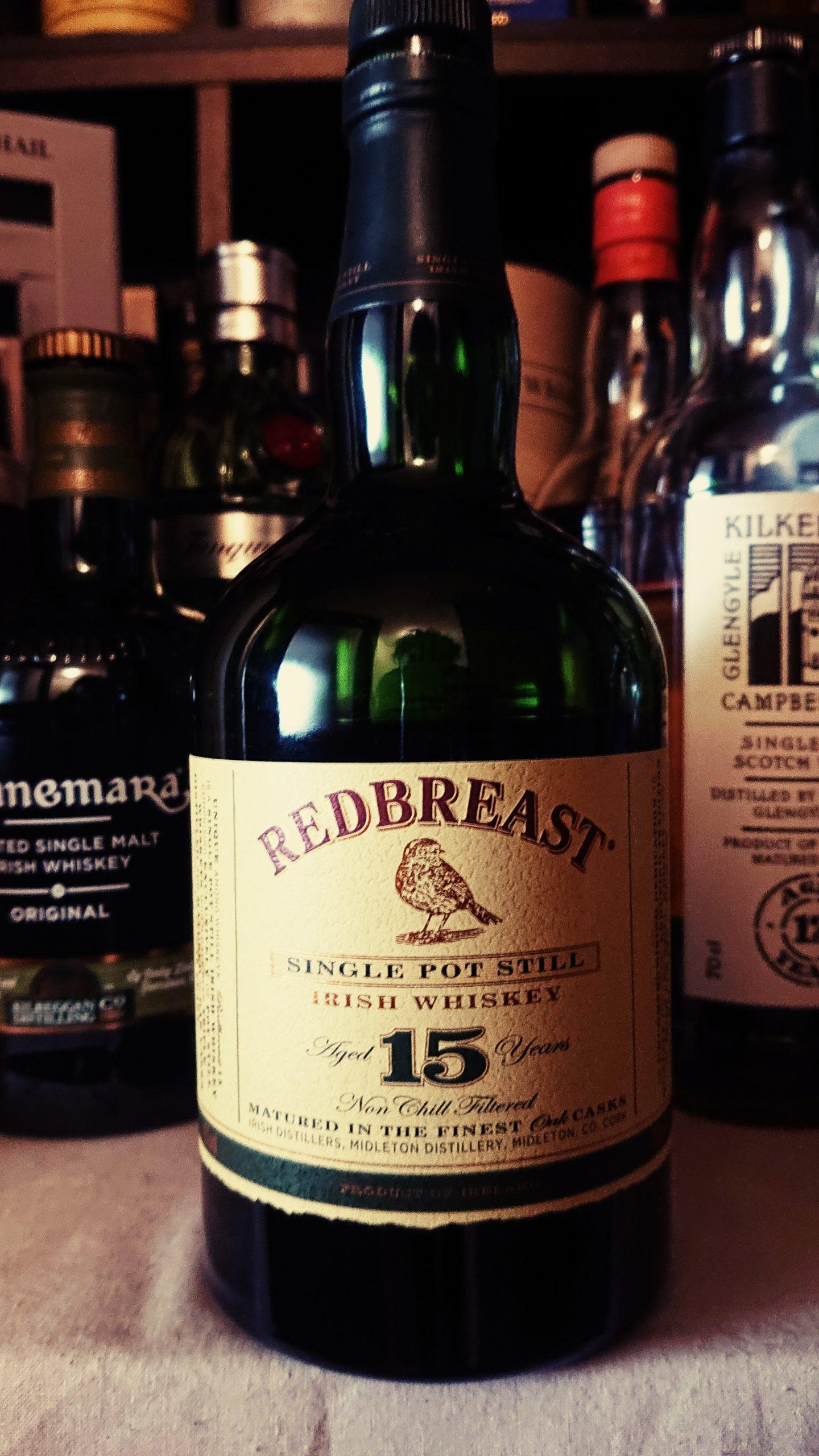 レッドブレスト15年のテイスティング&レヴュー・アイリッシュの伝統「ピュアポットスチルウイスキー」の底力!