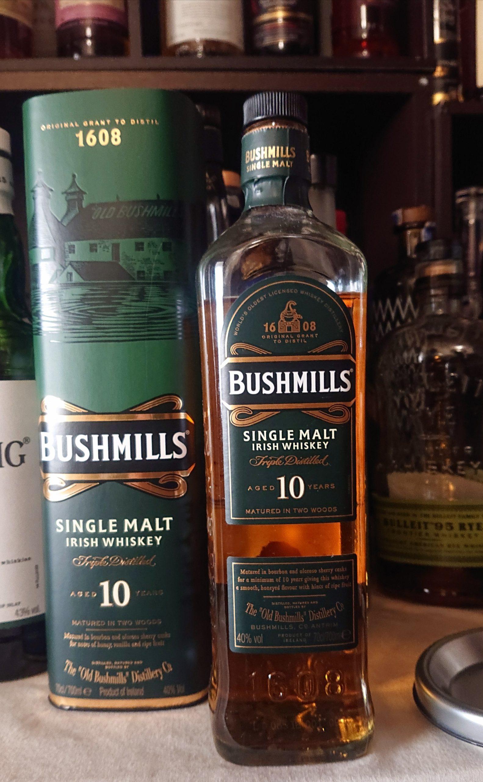 ブッシュミルズ10年のテイスティング&レヴュー・世界最古を謳う北アイルランドの巨人。その優しく繊細な甘み!