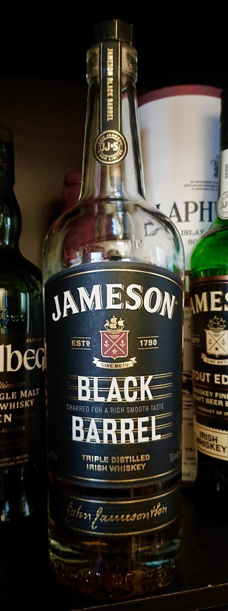 ジェムソン・ブラックバレルのテイスティング&レヴュー・黒焦げの樽で熟成、バニラ&コーヒーキャンディ風味のディープなジェムソン!