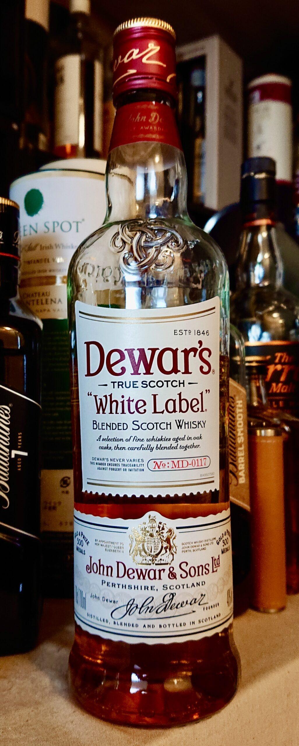 デュワーズホワイトラベルのテイスティング&レヴュー・アメリカでの売り上げNo.1バーテンダー支持No.1 、ハイボールにも最適なコスパ最高峰の有名ブレンデッド!