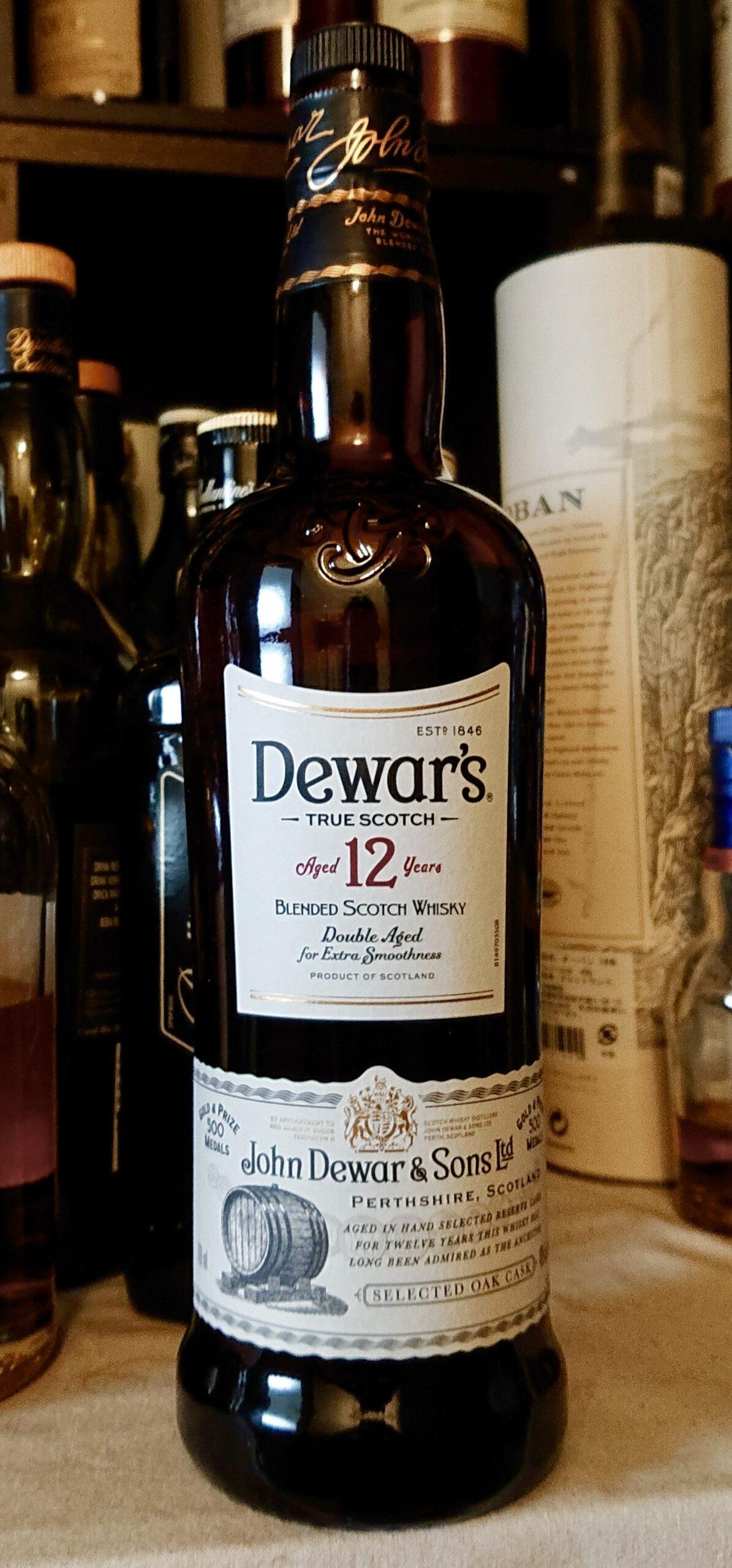 デュワーズ12年のテイスティング&レヴュー・デュワーズの進化系、ハチミツの甘味豊かな本格デザートスコッチ!