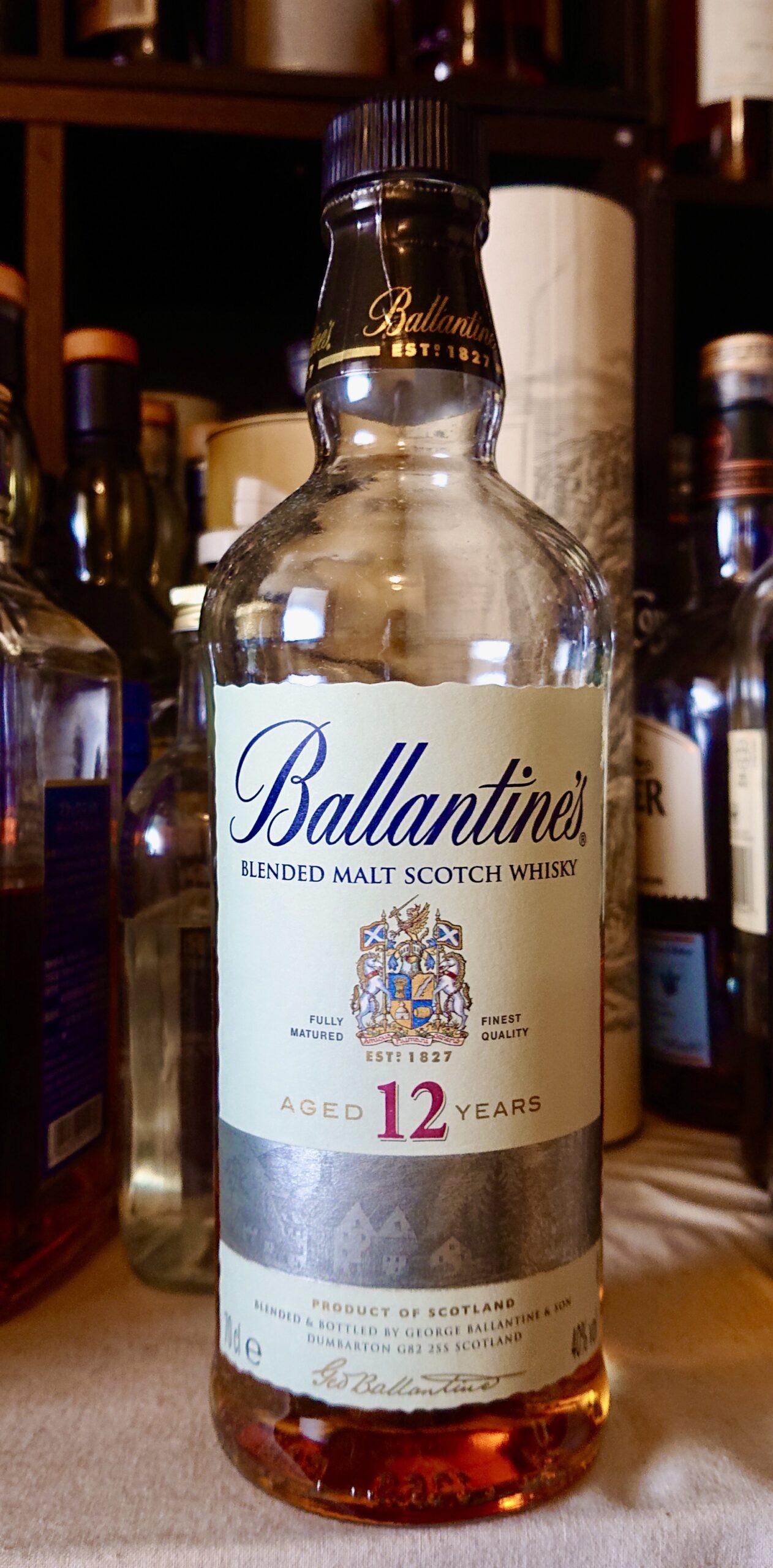 バランタイン ピュアモルト12年のテイスティング&レヴュー・モルト原酒のみのブレンドで作られたバランタイン12年!海と麦が一層ヴィヴィッドなオススメの一本!